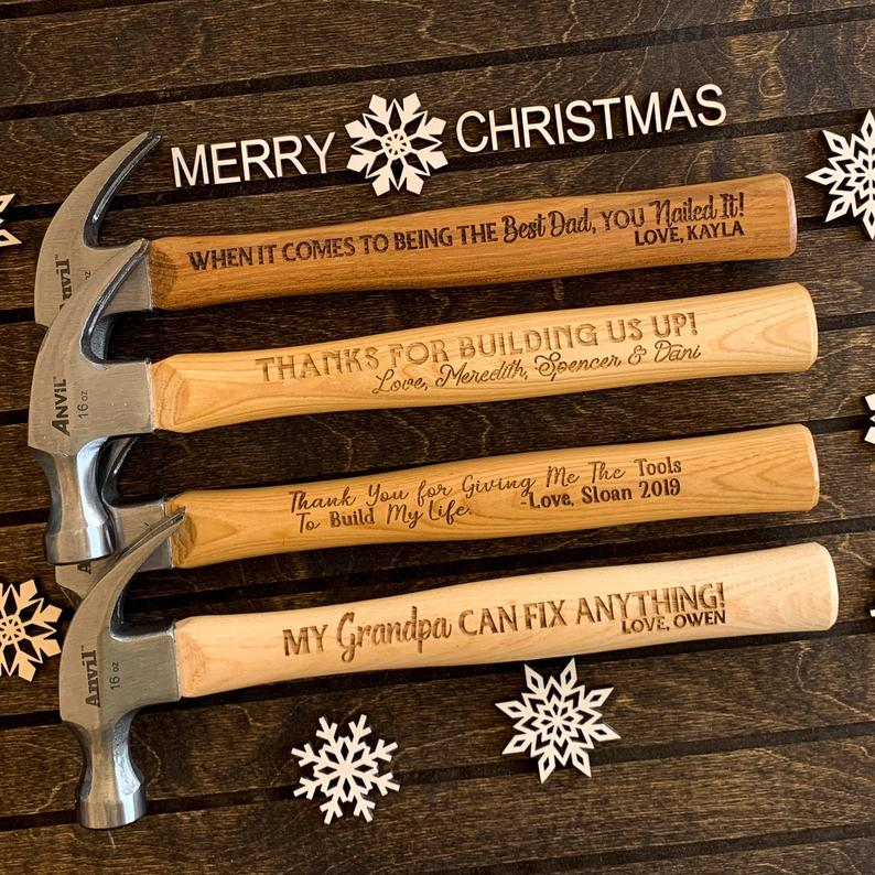Personalized hammers for gifts