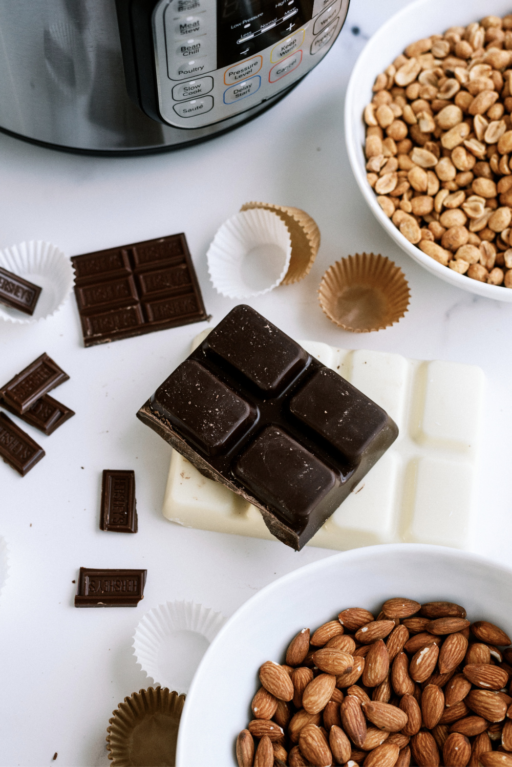 ingredients in instant pot chocolate clusters