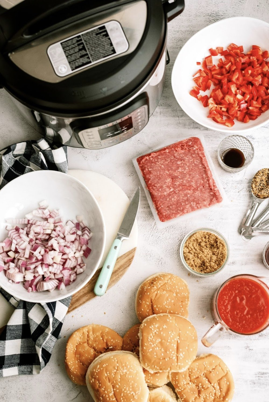 ingredients in instant pot sloppy joes