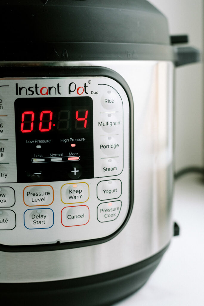 Instant Pot set for 4 minutes