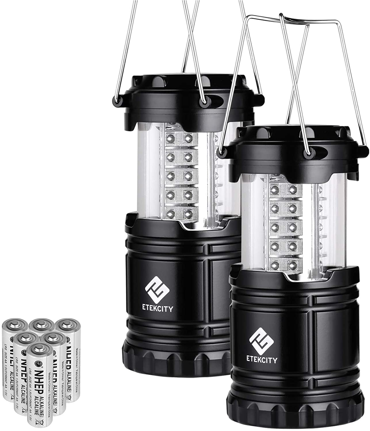 2 led lanterns for camping or power outages