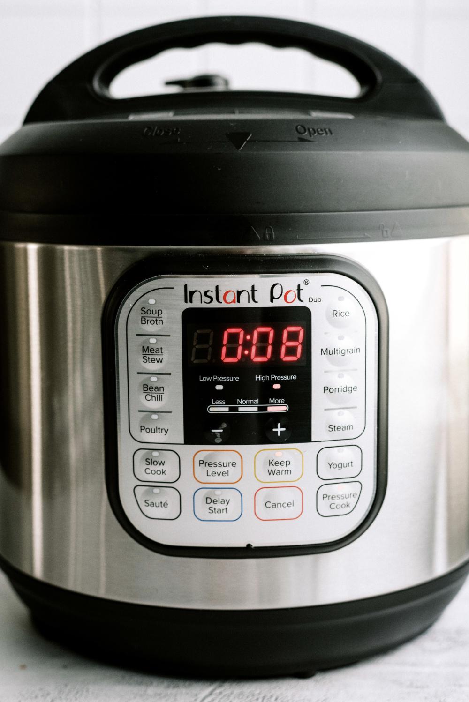 timer set on instant pot for 8 minutes