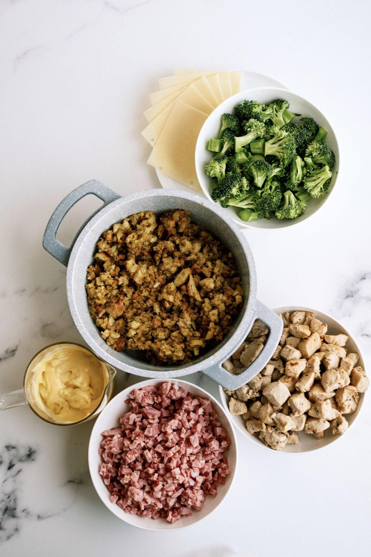 ingredients needed to make chicken cordon bleu casserole