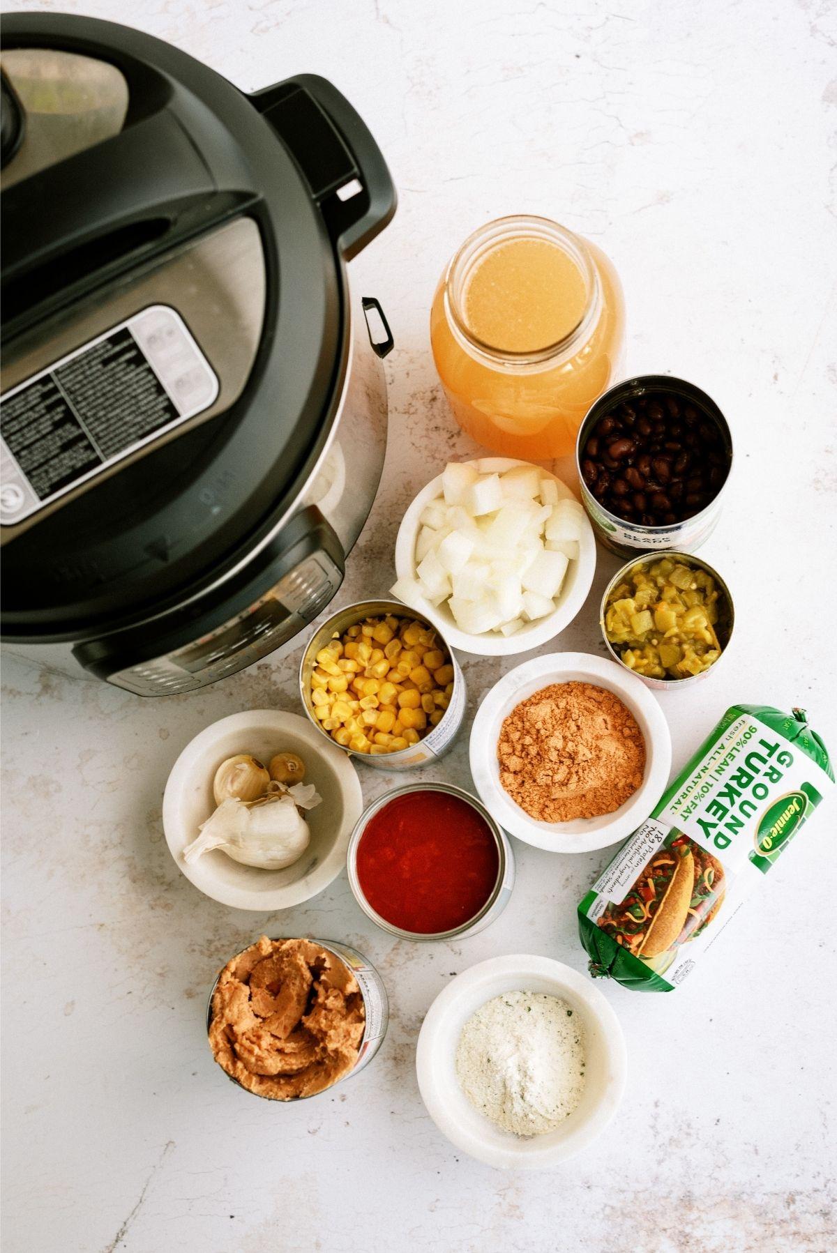 Ingredients for Instant Pot Ground Turkey Taco Chili Recipe