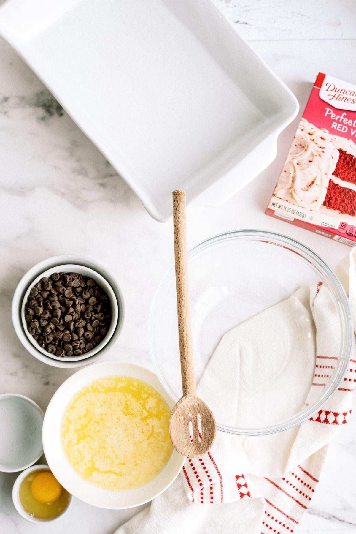 Ingredients for Red Velvet Brownies