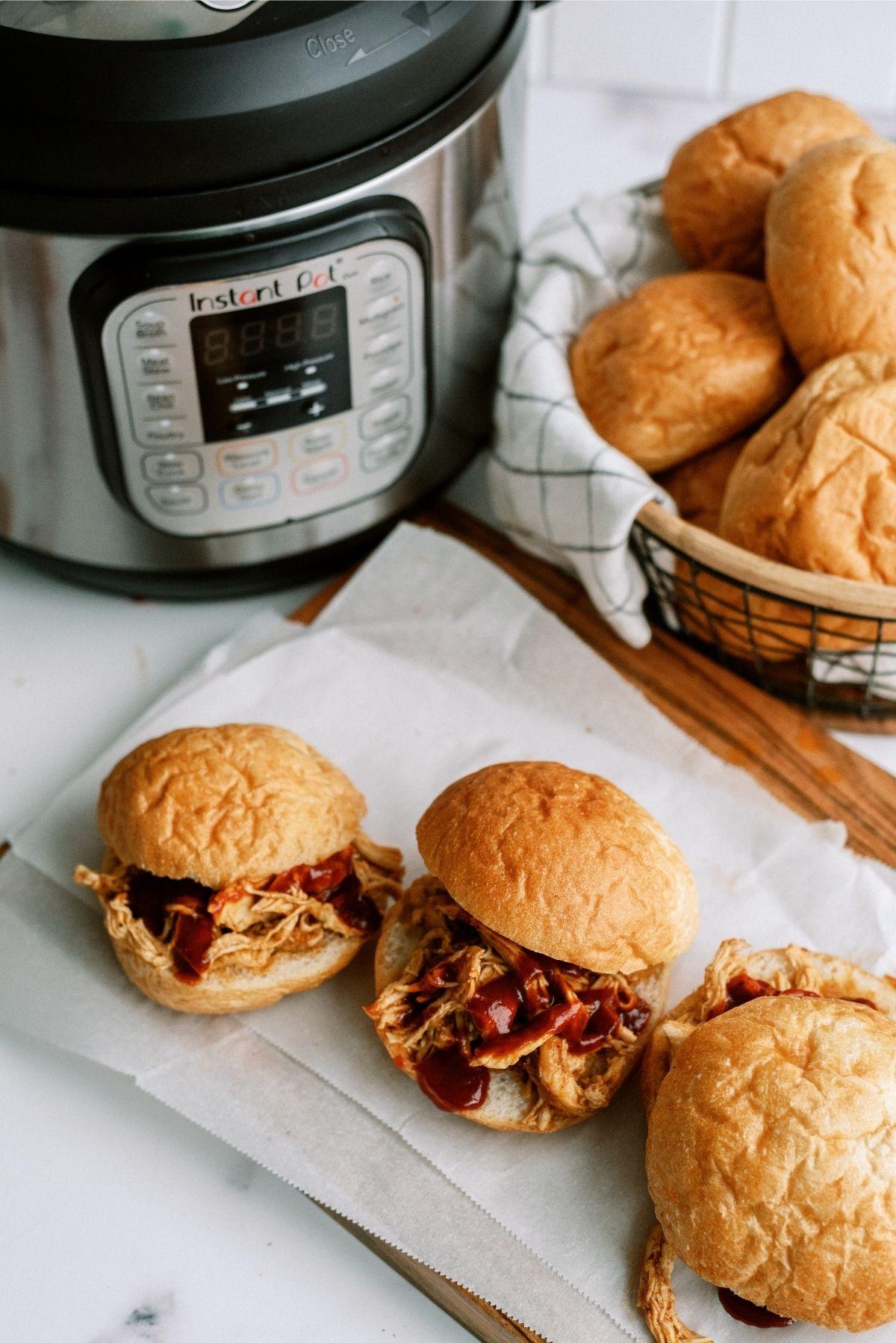 Instant Pot BBQ Chicken Sandwiches