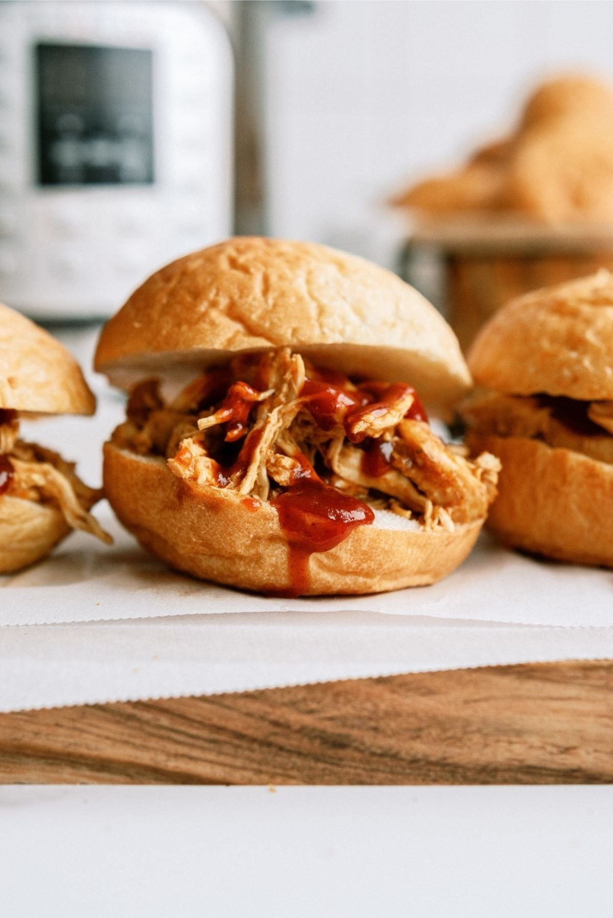 Instant Pot BBQ Chicken Sandwiches Recipe