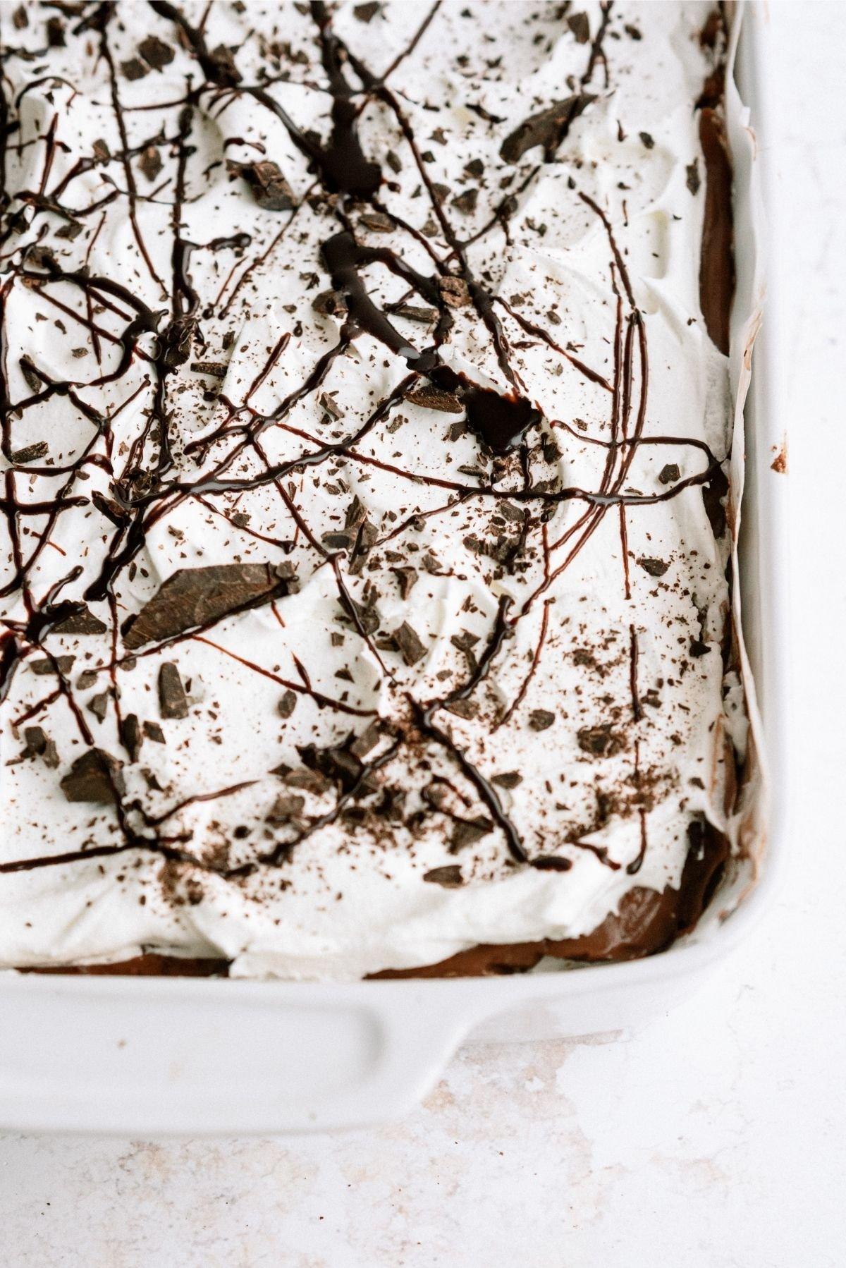 Layered Brownie Pudding Dessert