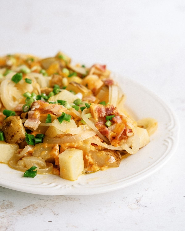 Slow Cooker Bacon Cheese Potatoes Recipe