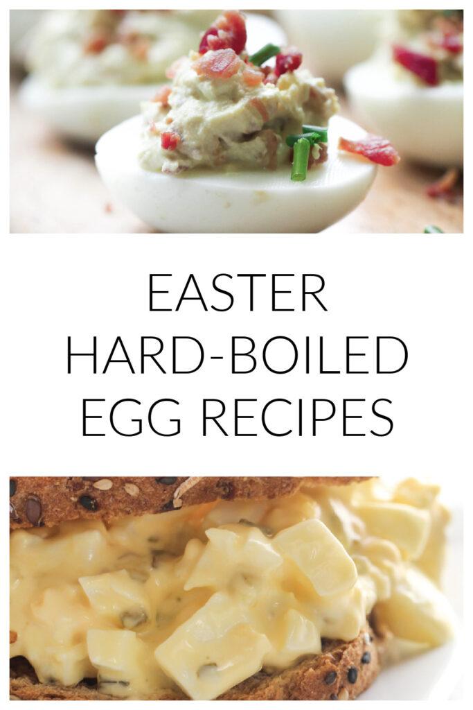leftover hard-boiled egg recipes from easter - deviled eggs and egg salad sandwiches