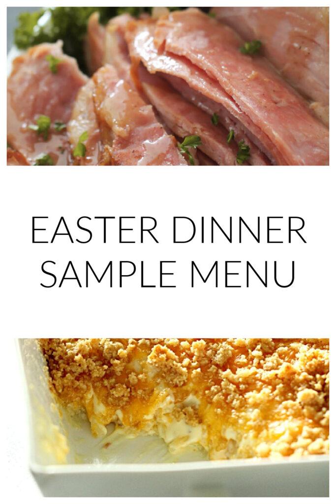 easter dinner menu sample ideas - ham and cheese potatoes