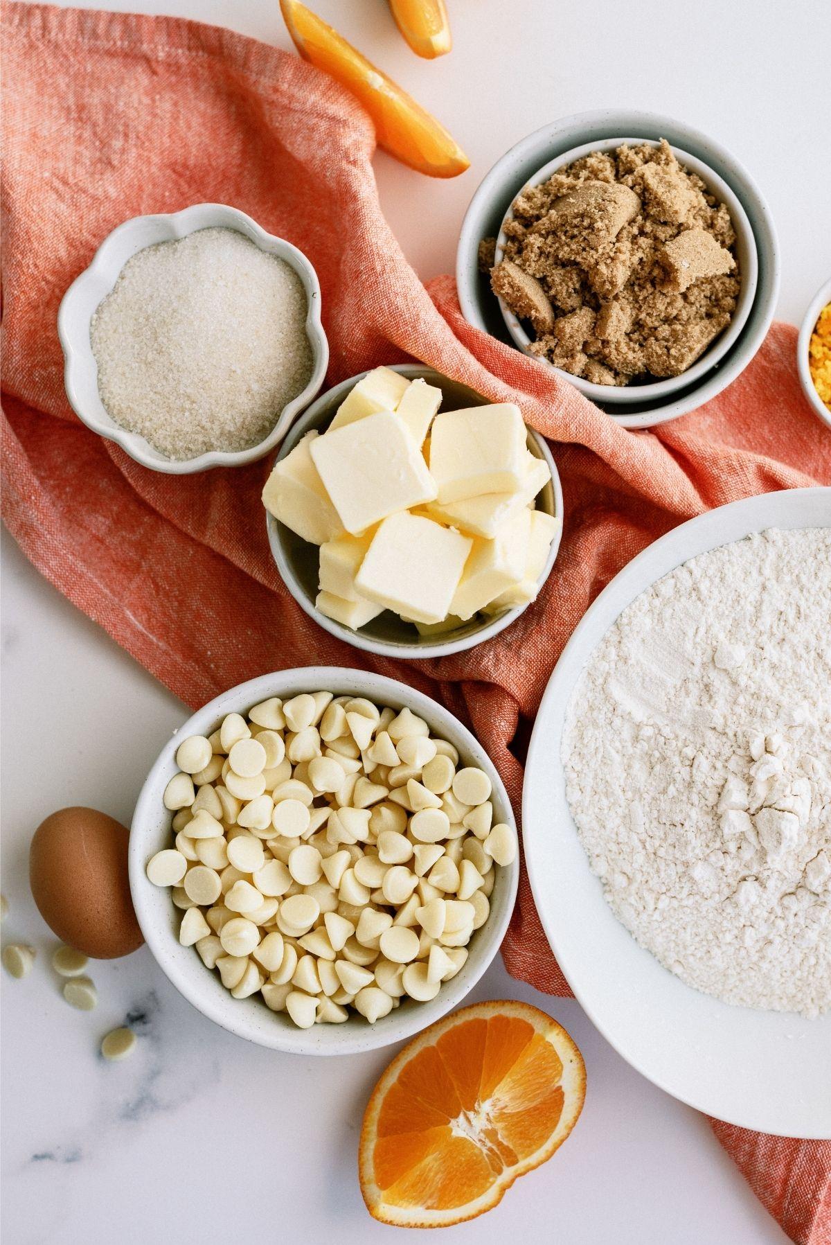 Ingredients for Orange Creamsicle Cookies Recipe