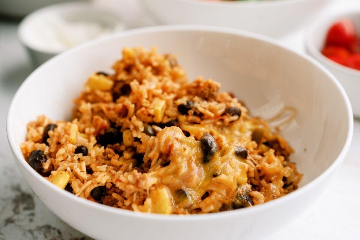 Instant Pot Ground Turkey and Rice Taco Bowls Recipe