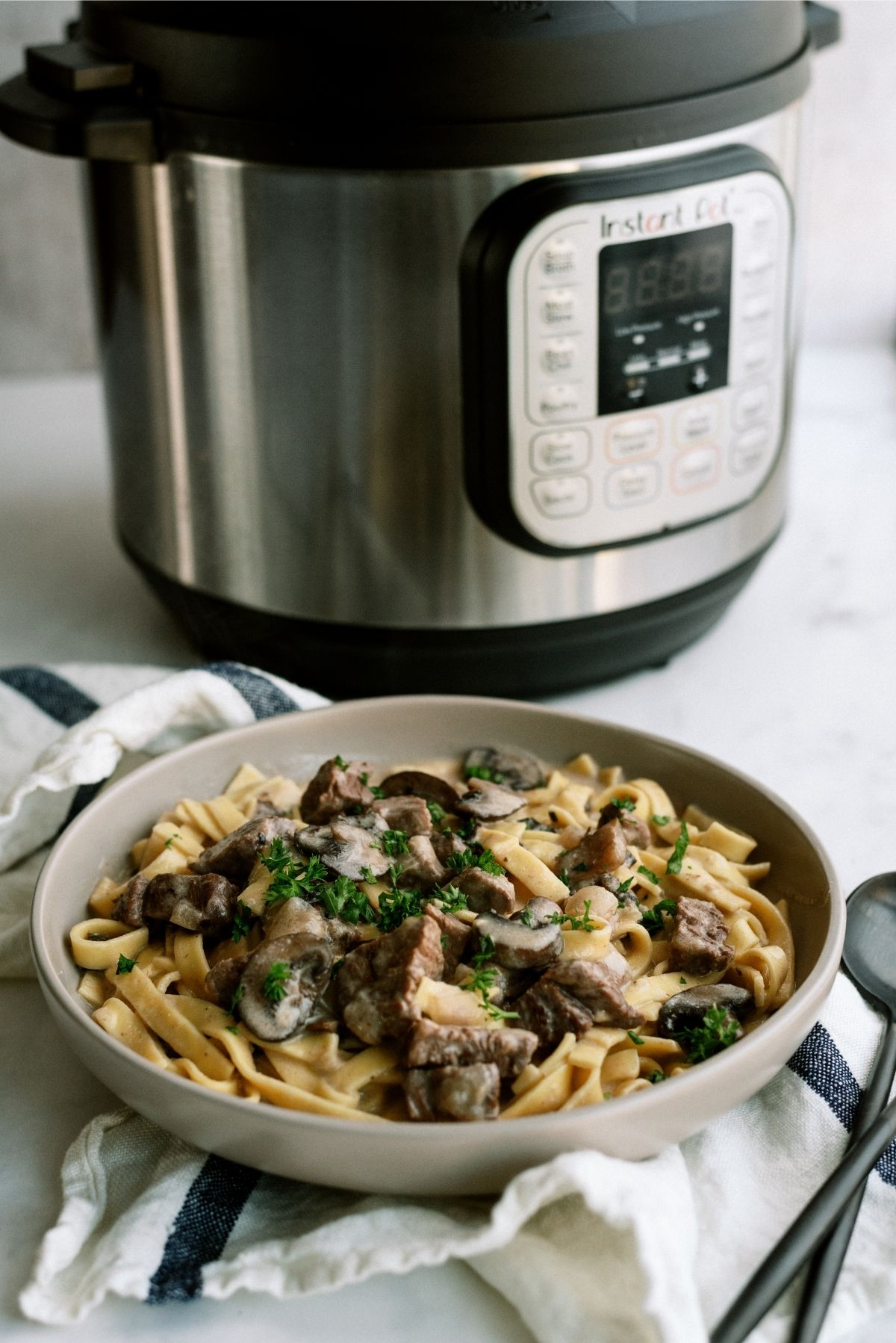 Instant Pot for Beef Stroganoff Recipe