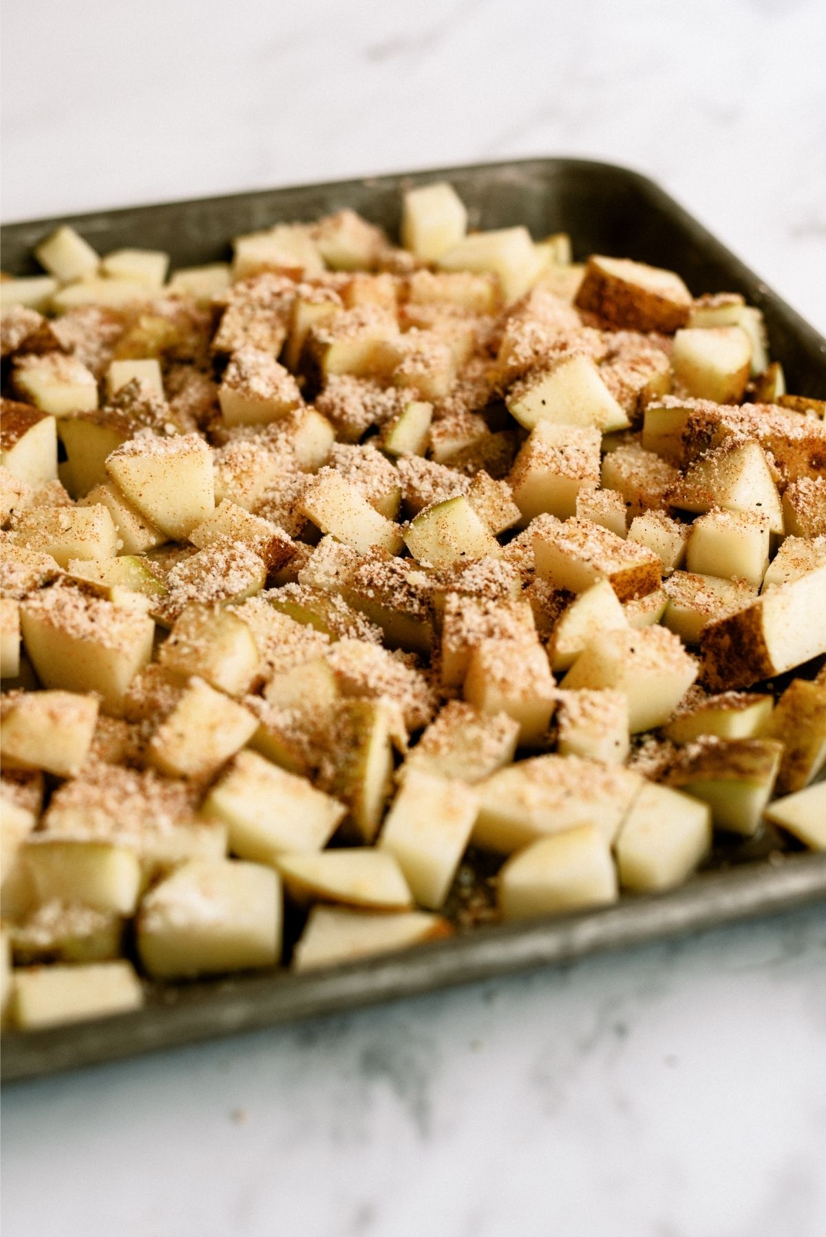 Uncooked Roasted Parmesan Potatoes