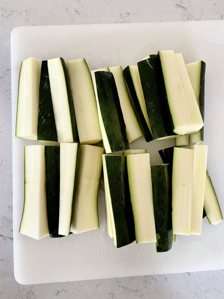 zucchini cut into sticks