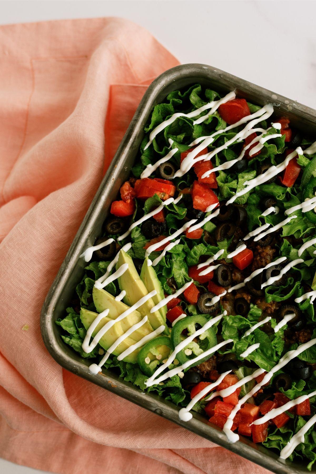 20 Minute Taco Salad Casserole