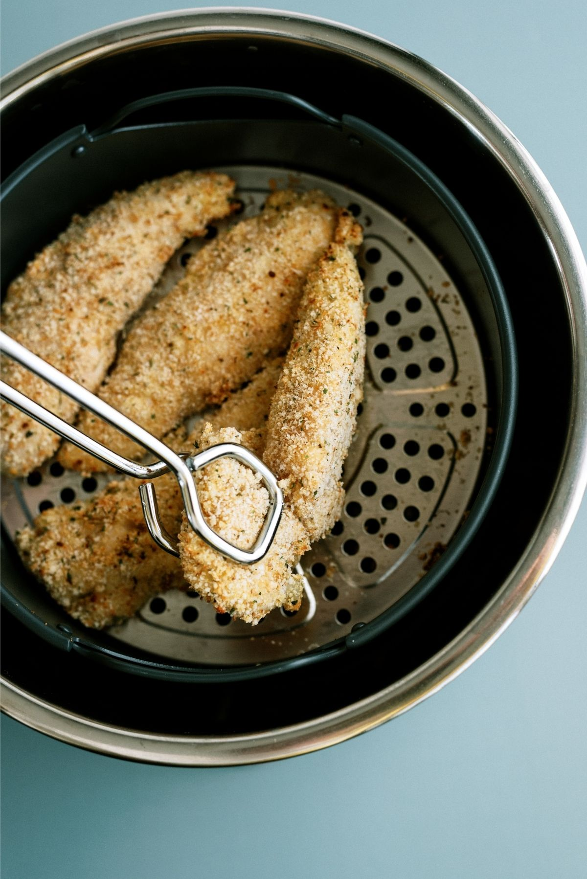Flip tenders over to cook on other side