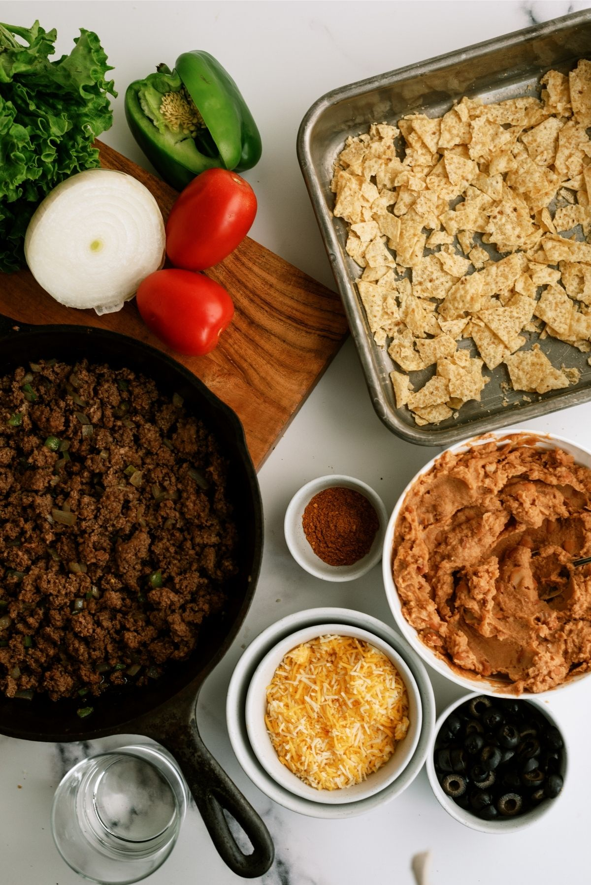 Ingredients for 20 Minute Taco Salad Casserole