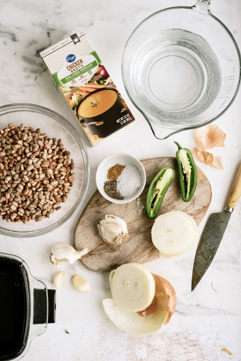 ingredients needed for instant pot refried beans