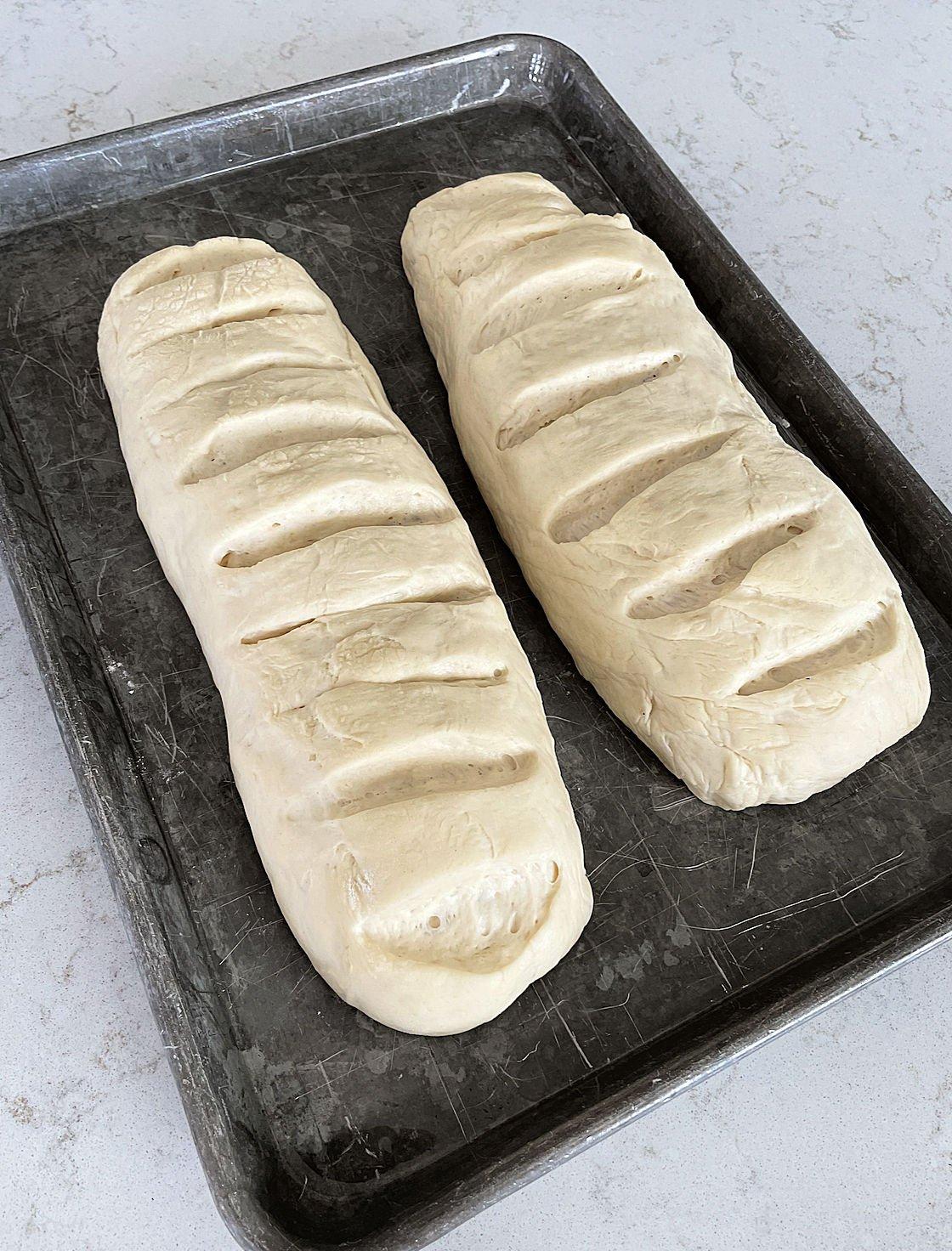 dough risen until it's doubled in size