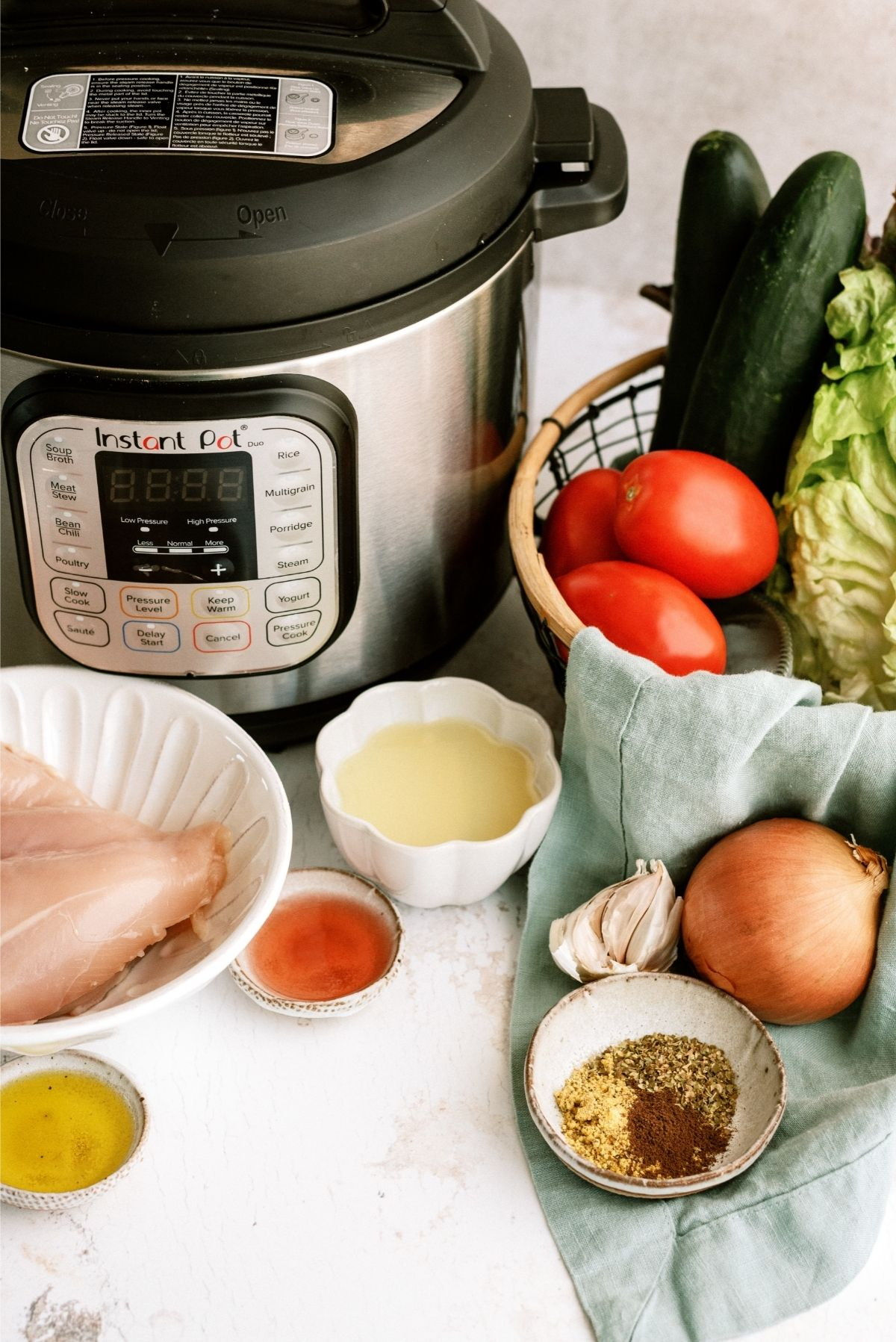 Ingredients for Instant Pot Chicken Gyros Recipe