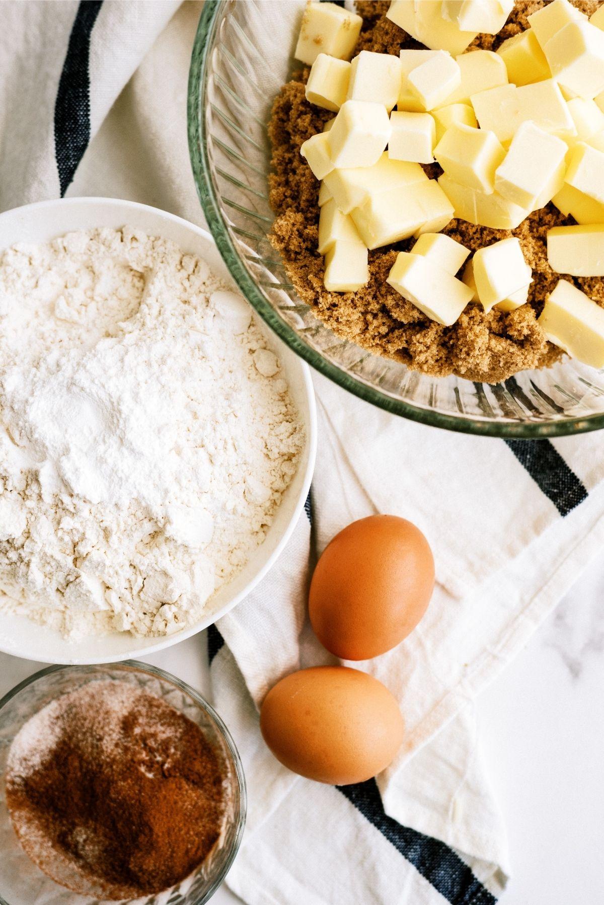 Ingredients for Snickerdoodle Blondies Recipe