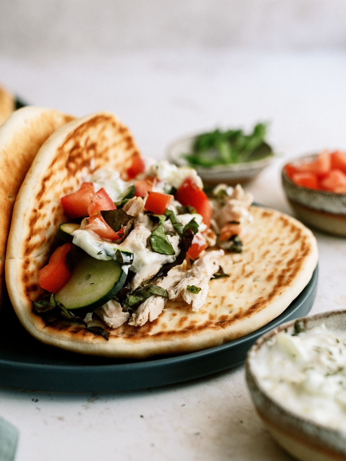Instant Pot Chicken Gyro on a plate
