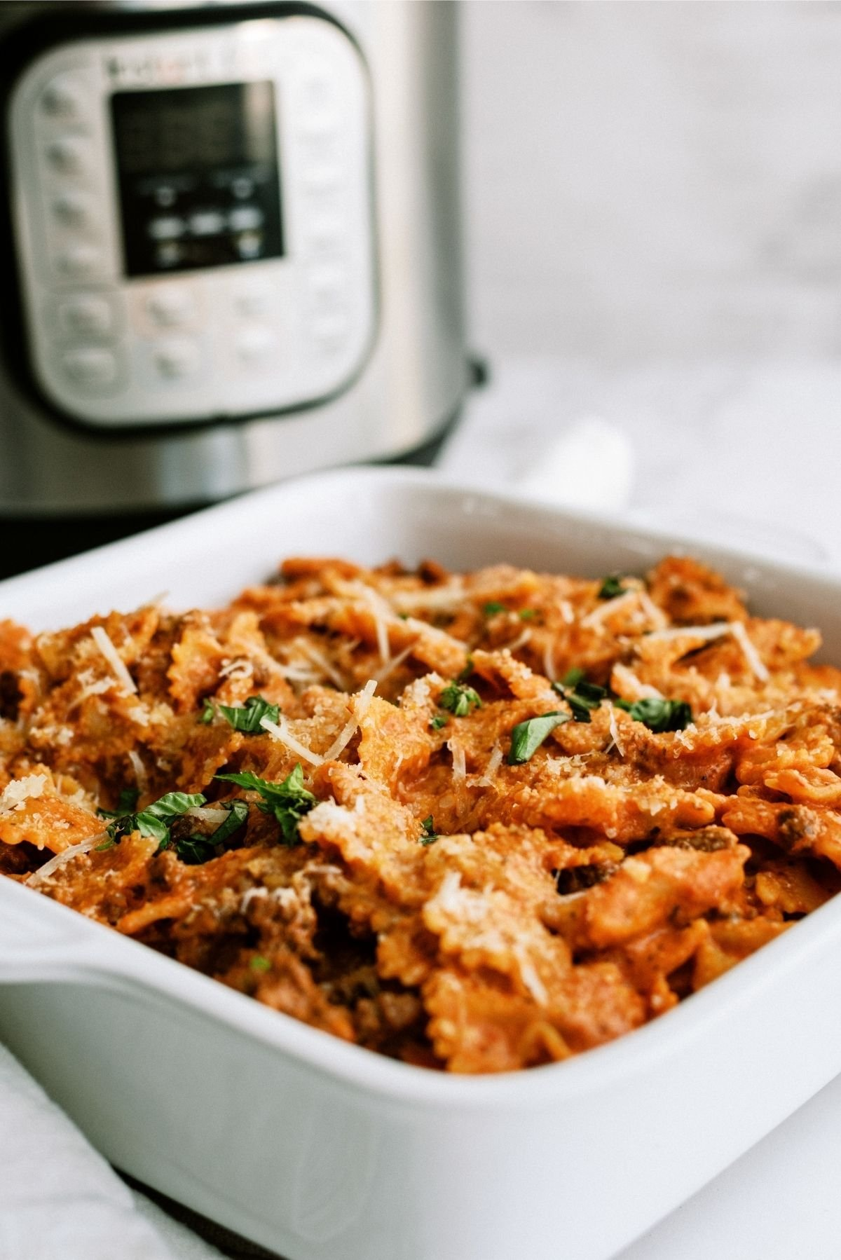 Instant Pot Ground Beef Lazy Lasagna Recipe
