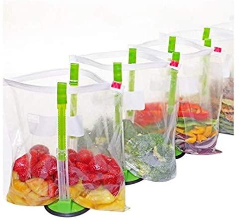 freezer meal bag holders for prepping freezer meals