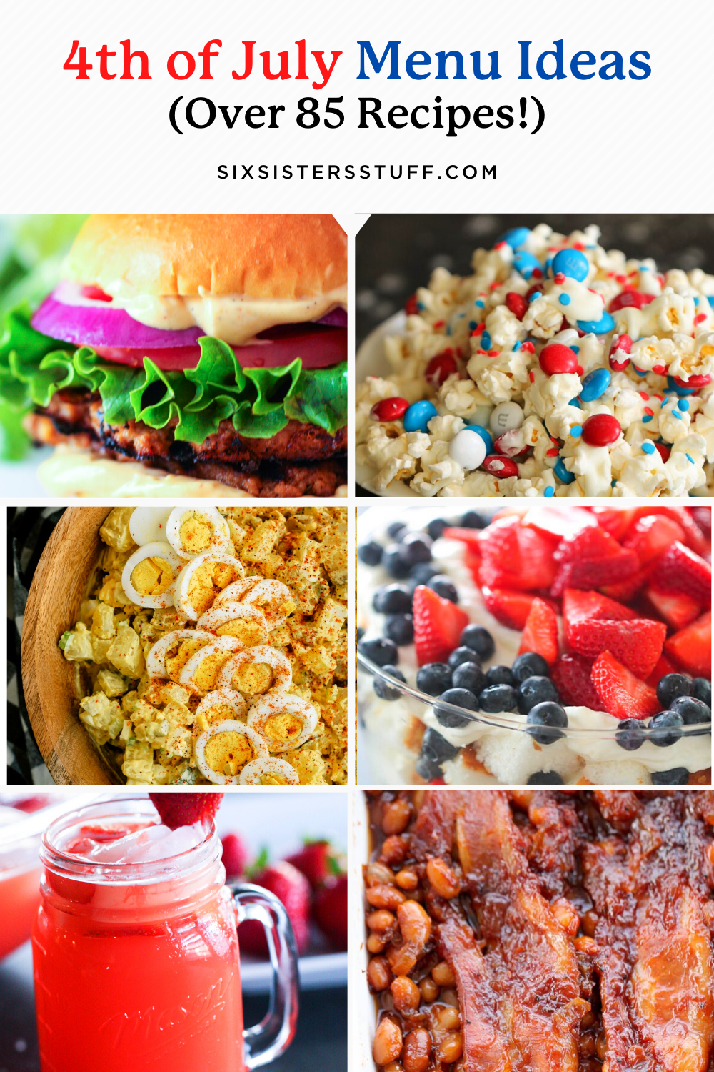 4th Of July Menu Ideas (Dinners, Side Dishes, Desserts, and Drink Recipes)
