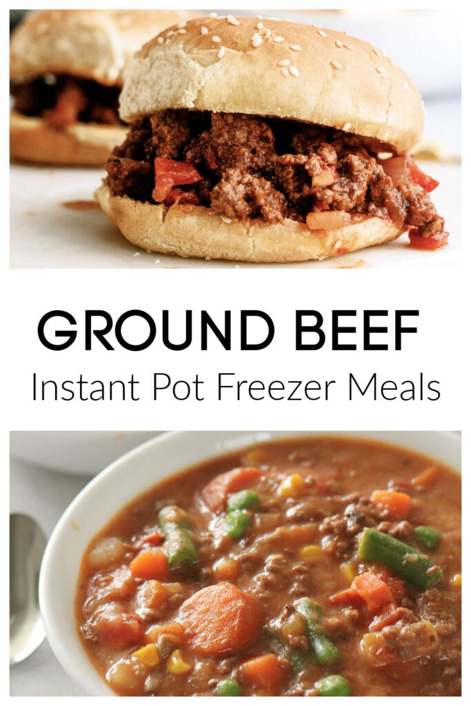 ground beef and ground turkey instant pot freezer meals