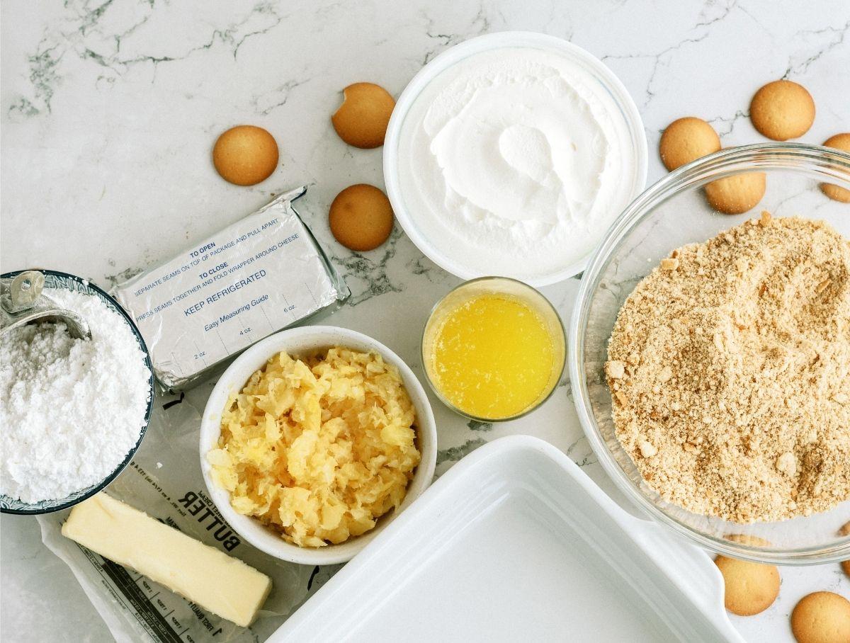 Ingredients for Fluffy Cream Cheese Dessert