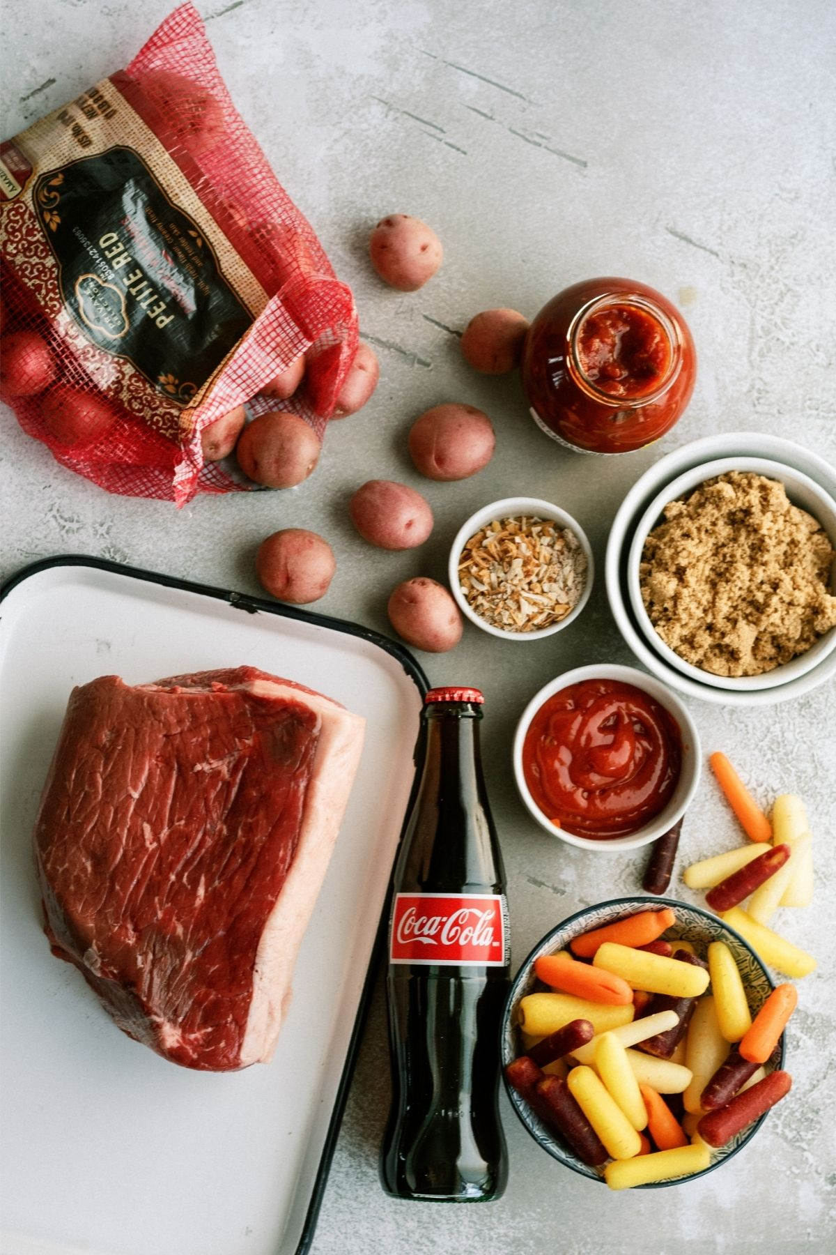 Ingredients for Melt In Your Mouth Slow Cooker Pot Roast