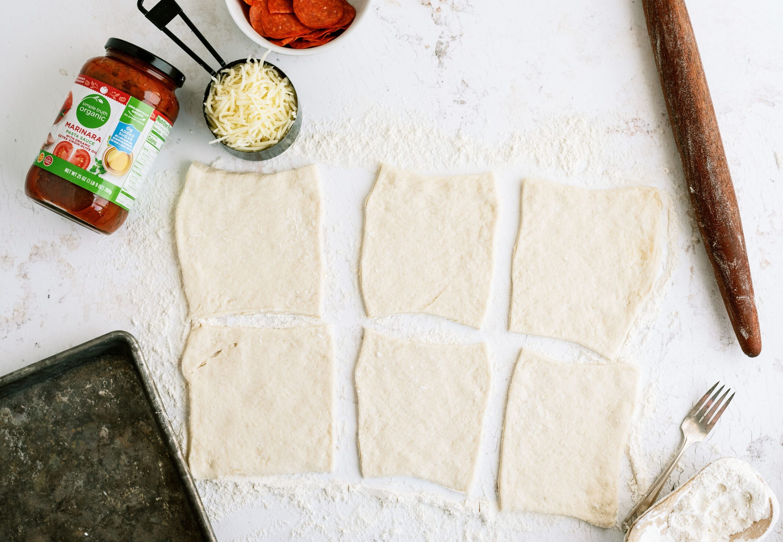 Ingredients for Quick and Easy Calzones Recipe