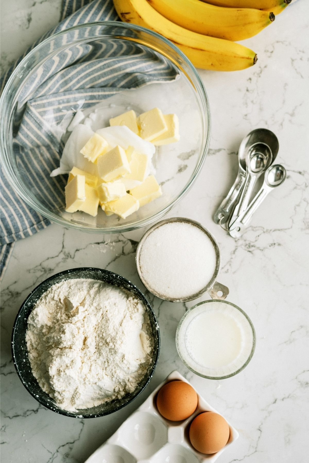 Ingredients for Frosted Banana Cookies