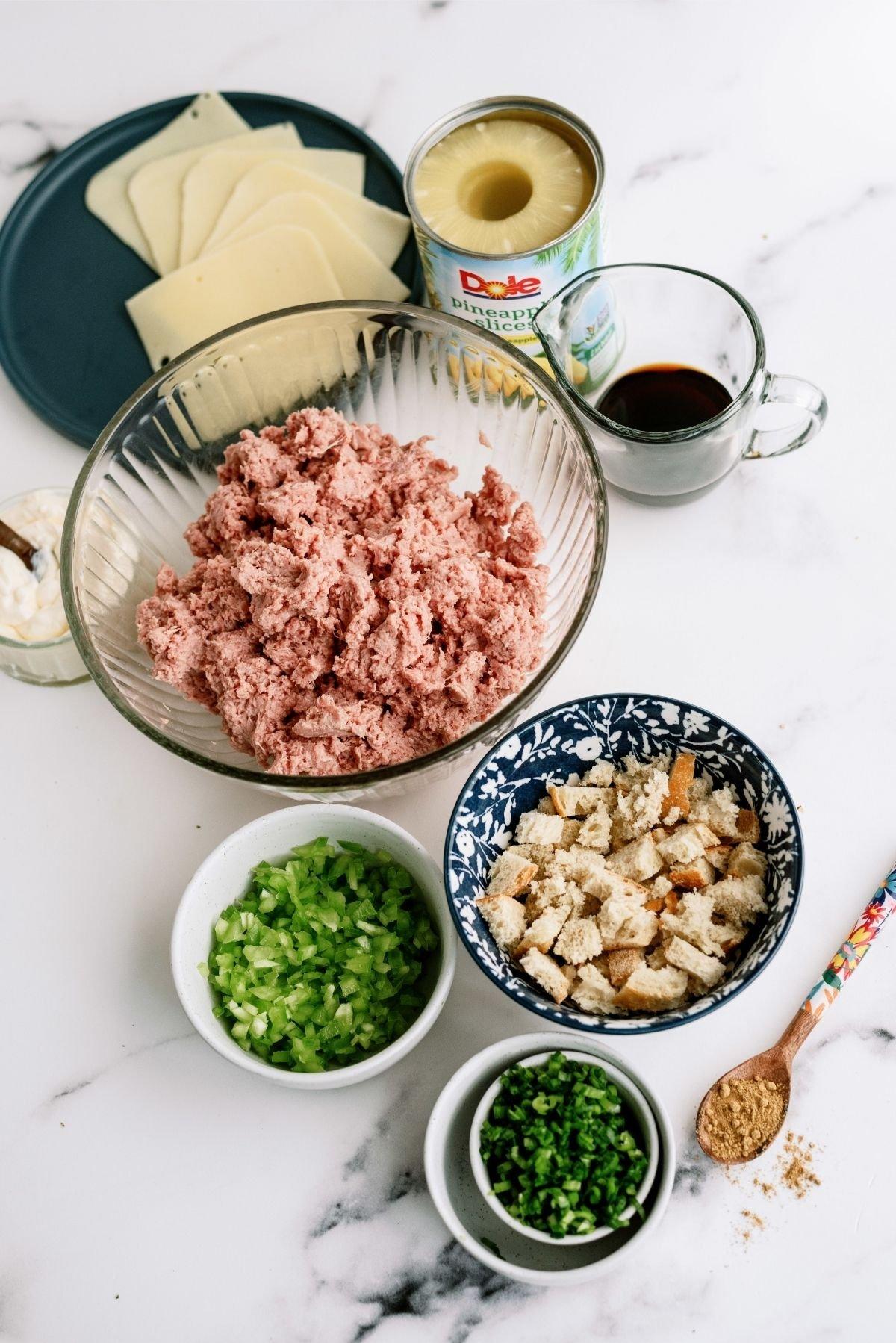 Ingredients for Hawaiian Turkey Burgers Recipe