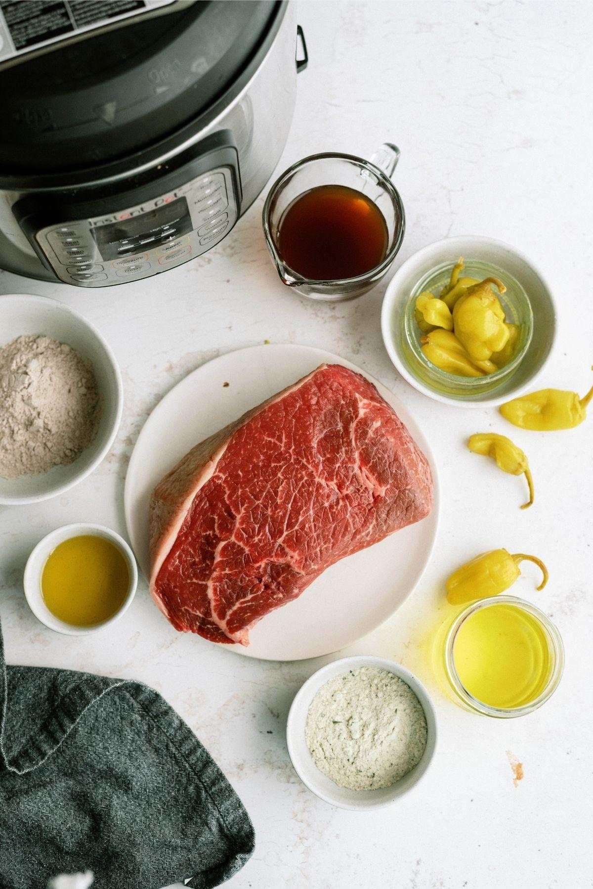 Ingredients for Instant Pot Mississippi Pot Roast