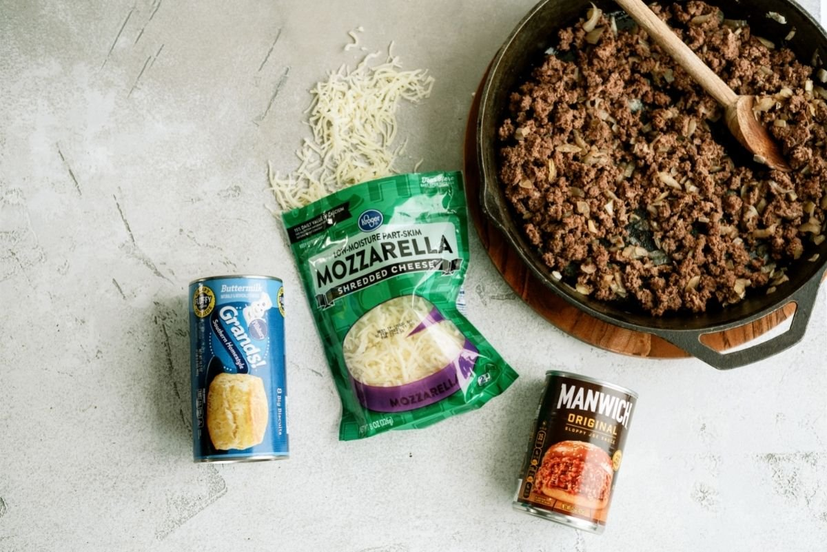 Ingredients for Baked Sloppy Joes Recipe