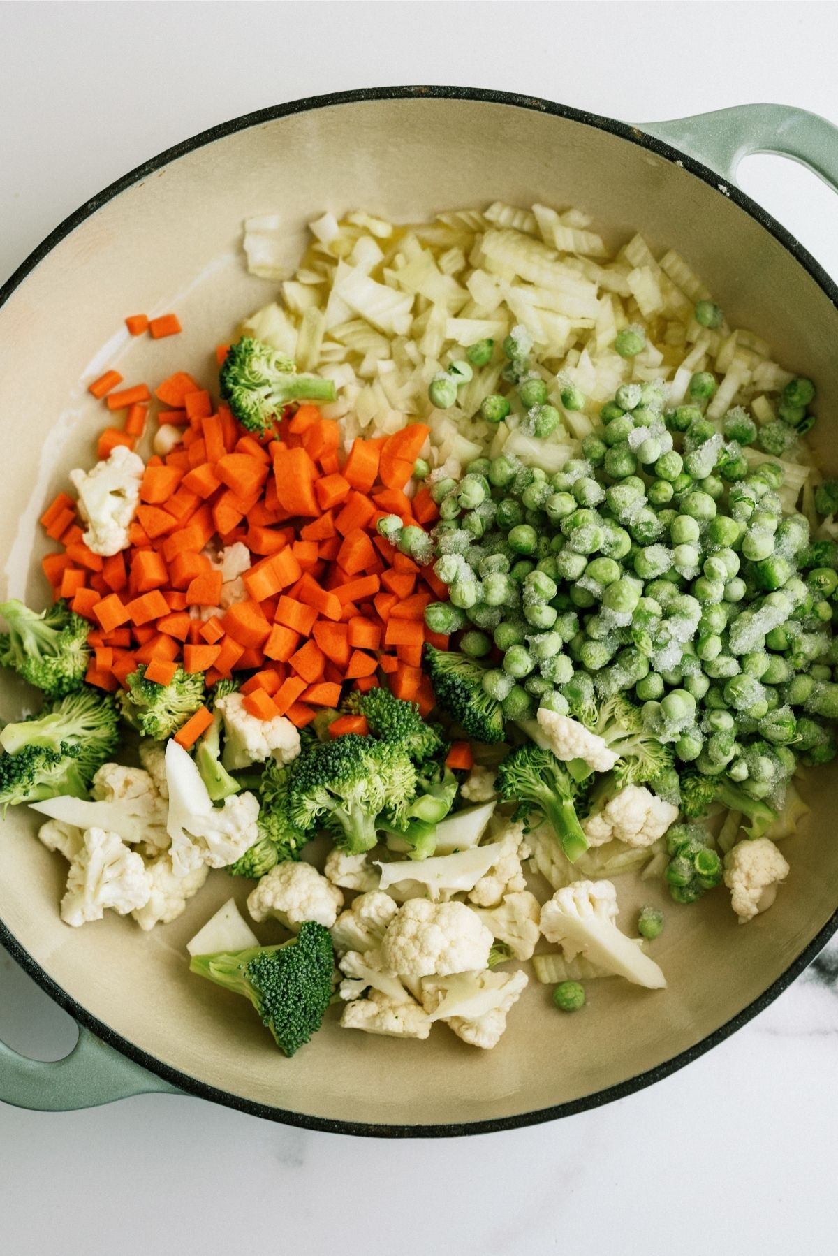 Mixed Vegetables in large pan