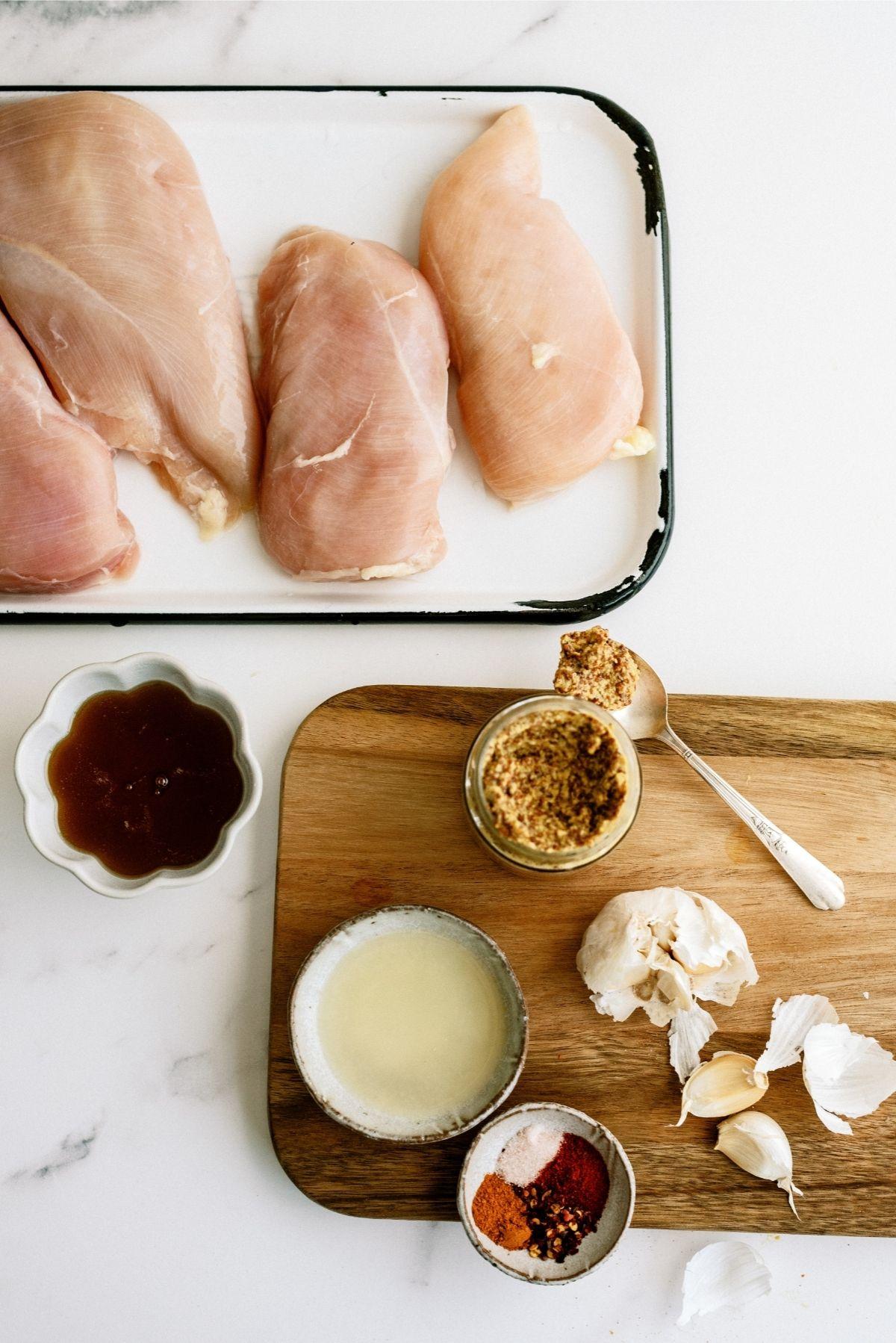 Ingredients for Grilled Honey Mustard Chicken