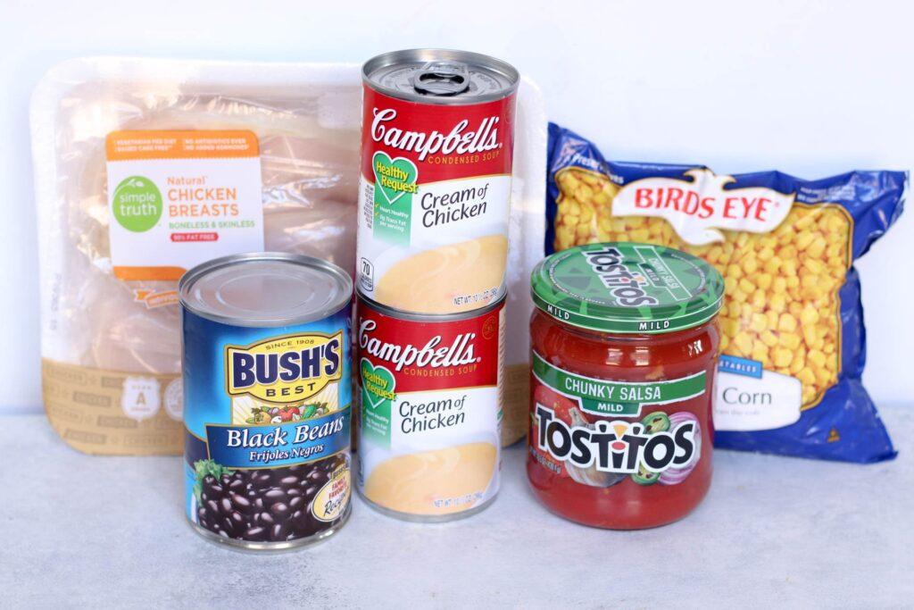 ingredients in creamy chicken fajita soup