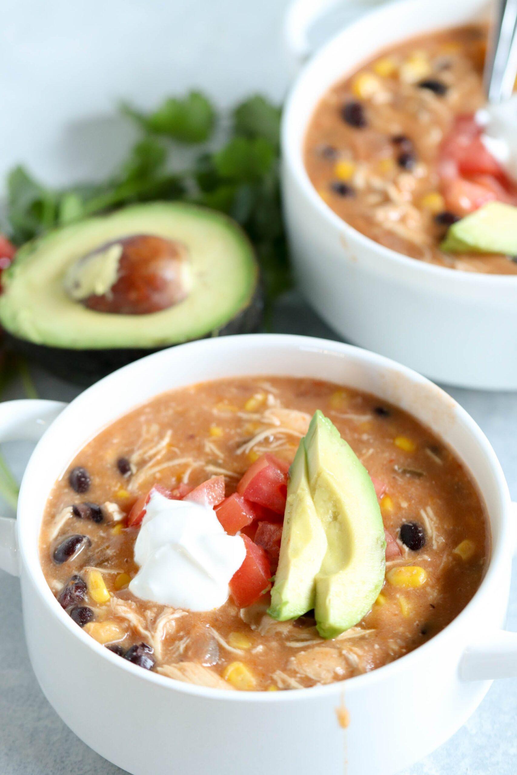 Instant Pot Creamy Chicken Fajita Soup Recipe