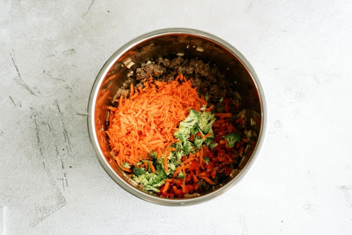 Shredded and Cut Vegetables in the Instant Pot
