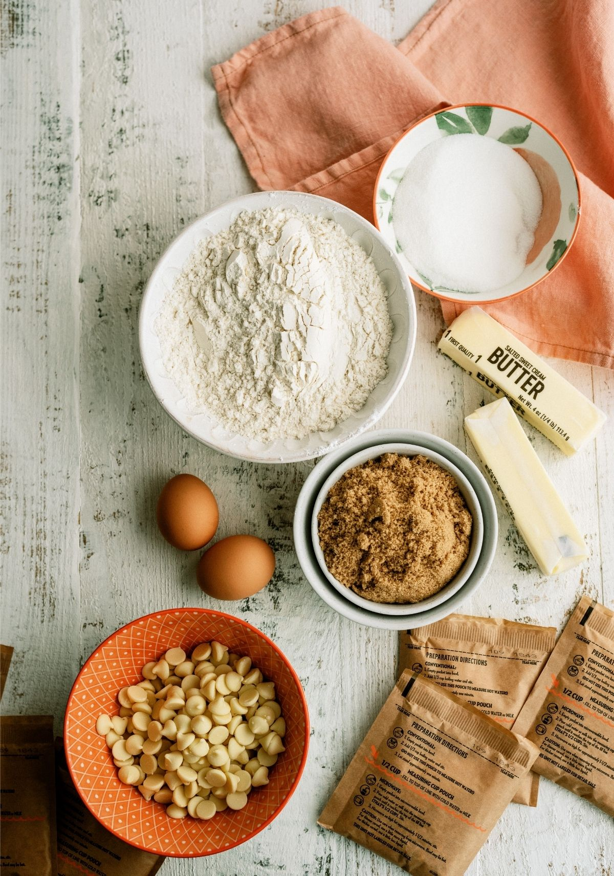 Ingredients for Peaches and Cream Oatmeal Cookies