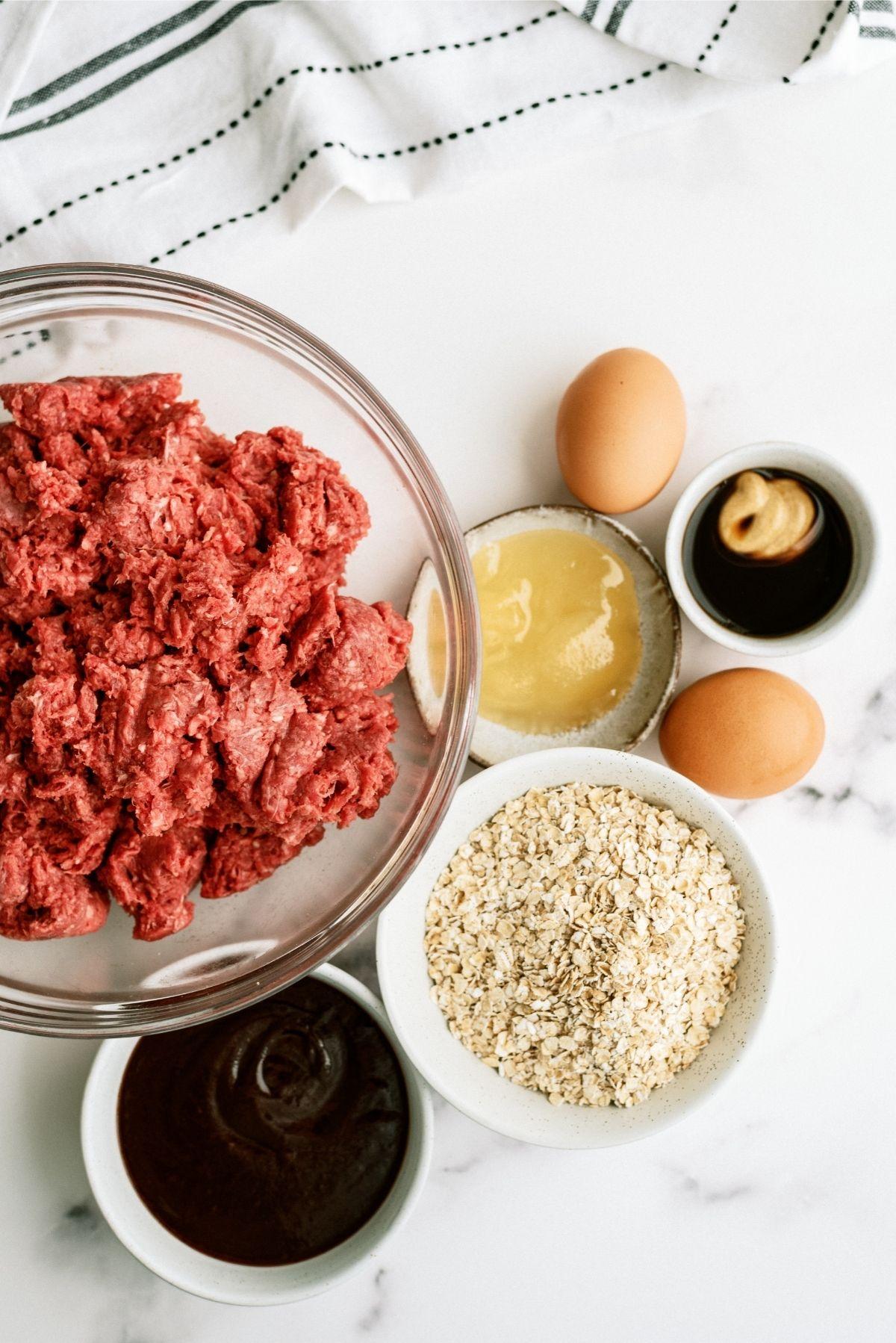 Ingredients for Honey BBQ Meatloaf