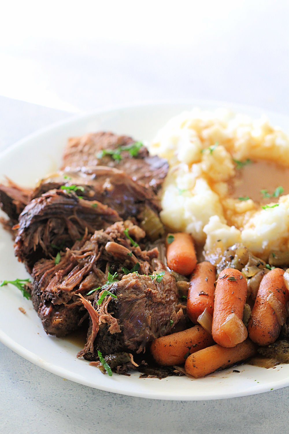 Slow Cooker Perfect Pot Roast Recipe (and Homemade Gravy)