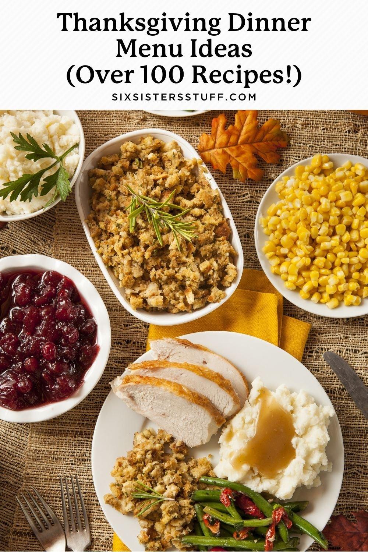 Thanksgiving Dinner Menu Ideas (Over 100 Recipes!)